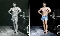 Before and after images showing benefits of colorizing a black and white photo